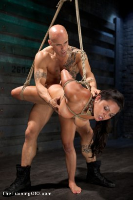 Photo number 12 from Training Adrianna Luna-Day 1 shot for The Training Of O on Kink.com. Featuring Adrianna Luna and Derrick Pierce in hardcore BDSM & Fetish porn.