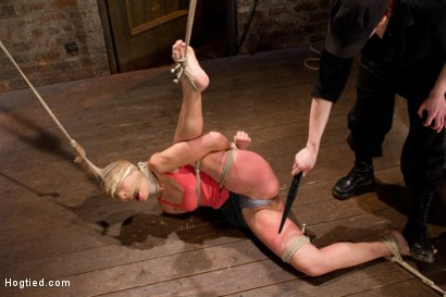 Photo number 11 from Amber Rayne Live Show Part 1 - Brutal Single Ankle Suspension shot for Hogtied on Kink.com. Featuring Amber Rayne in hardcore BDSM & Fetish porn.