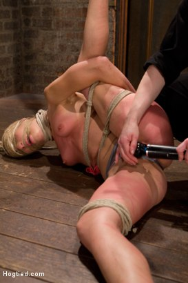 Photo number 1 from Amber Rayne Live Show Part 1 - Brutal Single Ankle Suspension shot for Hogtied on Kink.com. Featuring Amber Rayne in hardcore BDSM & Fetish porn.