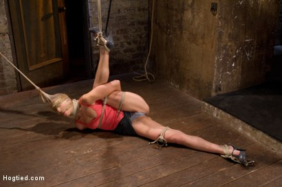Photo number 14 from Amber Rayne Live Show Part 1 - Brutal Single Ankle Suspension shot for Hogtied on Kink.com. Featuring Amber Rayne in hardcore BDSM & Fetish porn.