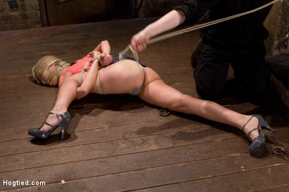 Photo number 16 from Amber Rayne Live Show Part 1 - Brutal Single Ankle Suspension shot for Hogtied on Kink.com. Featuring Amber Rayne in hardcore BDSM & Fetish porn.
