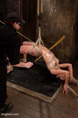 Photo number 14 from Amber Rayne Live Show Part 2 - Drawn and Quartered shot for Hogtied on Kink.com. Featuring Amber Rayne in hardcore BDSM & Fetish porn.