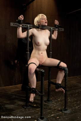 Photo number 4 from Alani Pi - Head Shaved Slut Live Show - Part 1 shot for Device Bondage on Kink.com. Featuring Alani Pi and Coral Aorta in hardcore BDSM & Fetish porn.