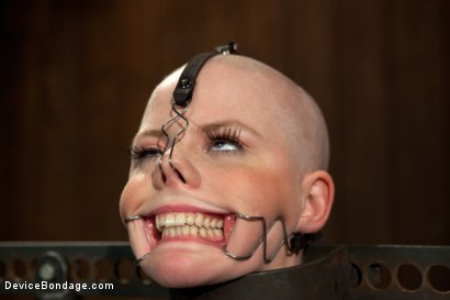 Photo number 9 from Alani Pi - Head Shaved Slut Live Show - Part 1 shot for Device Bondage on Kink.com. Featuring Alani Pi and Coral Aorta in hardcore BDSM & Fetish porn.