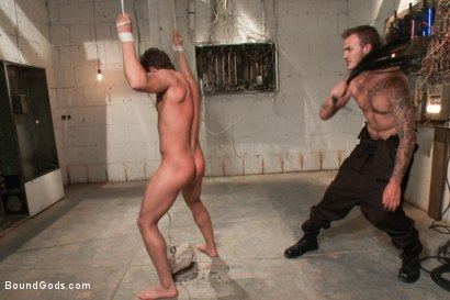 Photo number 8 from Steve Sterling - Fucked, Beaten, Zapped and Fucked Again shot for Bound Gods on Kink.com. Featuring Christian Wilde and Steve Sterling in hardcore BDSM & Fetish porn.