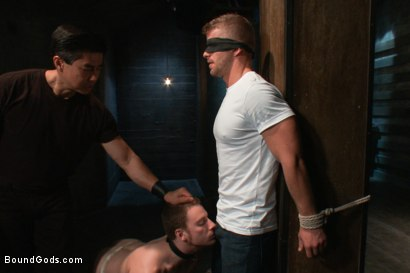 Photo number 1 from Dom Training 101 BG Style shot for Bound Gods on Kink.com. Featuring Van Darkholme, Jeremy Stevens and Sebastian Keys in hardcore BDSM & Fetish porn.