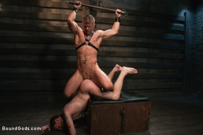 Photo number 13 from Dom Training 101 BG Style shot for Bound Gods on Kink.com. Featuring Van Darkholme, Jeremy Stevens and Sebastian Keys in hardcore BDSM & Fetish porn.
