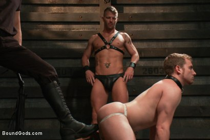 Photo number 4 from Dom Training 101 BG Style shot for Bound Gods on Kink.com. Featuring Van Darkholme, Jeremy Stevens and Sebastian Keys in hardcore BDSM & Fetish porn.