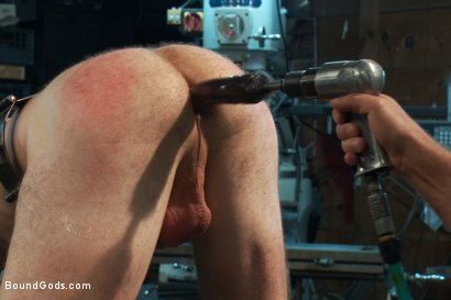 Photo number 10 from Motor oil bondage fuck in the metal shop shot for Bound Gods on Kink.com. Featuring Josh West and Clayton Kent in hardcore BDSM & Fetish porn.