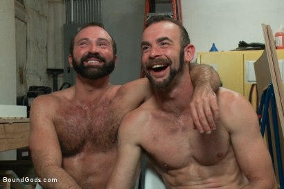 Photo number 15 from Motor oil bondage fuck in the metal shop shot for Bound Gods on Kink.com. Featuring Josh West and Clayton Kent in hardcore BDSM & Fetish porn.