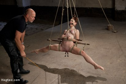 Photo number 8 from Melody Jordan Contorted in Severe Rope Bondage shot for Hogtied on Kink.com. Featuring Melody Jordan and Mark Davis in hardcore BDSM & Fetish porn.