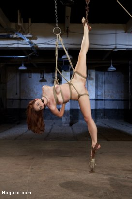 Photo number 4 from Melody Jordan Contorted in Severe Rope Bondage shot for Hogtied on Kink.com. Featuring Melody Jordan and Mark Davis in hardcore BDSM & Fetish porn.