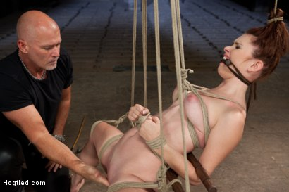 Photo number 6 from Melody Jordan Contorted in Severe Rope Bondage shot for Hogtied on Kink.com. Featuring Melody Jordan and Mark Davis in hardcore BDSM & Fetish porn.