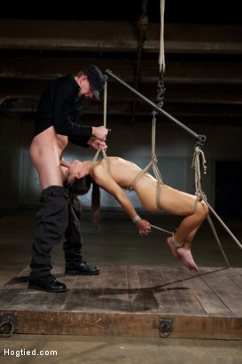 Photo number 1 from Mark Wood face fucks India Summers and adjusts her cocky attitude shot for Hogtied on Kink.com. Featuring Mark Wood and India Summer in hardcore BDSM & Fetish porn.
