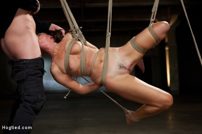 Photo number 13 from Mark Wood face fucks India Summers and adjusts her cocky attitude shot for Hogtied on Kink.com. Featuring Mark Wood and India Summer in hardcore BDSM & Fetish porn.