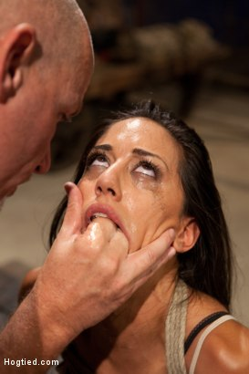 Photo number 12 from Lyla Storm Cums and Squirts just from Sucking Cock - Dominated by Mark Davis! shot for Hogtied on Kink.com. Featuring Lyla Storm and Mark Davis in hardcore BDSM & Fetish porn.