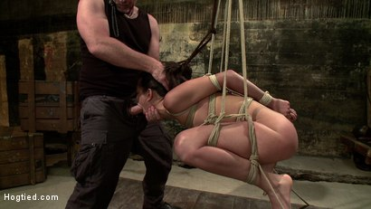 Photo number 15 from Lyla Storm Cums and Squirts just from Sucking Cock - Dominated by Mark Davis! shot for Hogtied on Kink.com. Featuring Lyla Storm and Mark Davis in hardcore BDSM & Fetish porn.