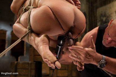 Photo number 3 from Lyla Storm Cums and Squirts just from Sucking Cock - Dominated by Mark Davis! shot for Hogtied on Kink.com. Featuring Lyla Storm and Mark Davis in hardcore BDSM & Fetish porn.