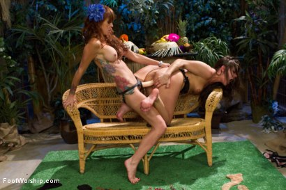 Photo number 6 from Lesbian Strawberry Foot Food Crushing! shot for Foot Worship on Kink.com. Featuring Monique Alexander and Gracie Glam in hardcore BDSM & Fetish porn.