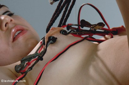 Photo number 13 from Fresh Faced and Freshly Electro-Fucked! shot for Electro Sluts on Kink.com. Featuring Bobbi Starr and Naidyne in hardcore BDSM & Fetish porn.