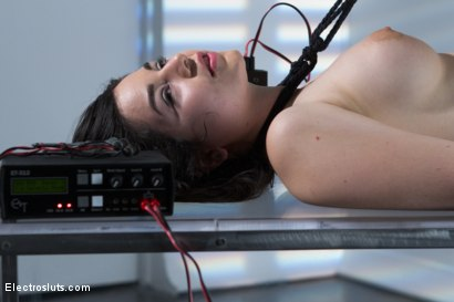 Photo number 3 from Fresh Faced and Freshly Electro-Fucked! shot for Electro Sluts on Kink.com. Featuring Bobbi Starr and Naidyne in hardcore BDSM & Fetish porn.