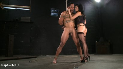 Photo number 2 from Sativa's Slave shot for Captive Male on Kink.com. Featuring Lobo and Sativa Rose in hardcore BDSM & Fetish porn.