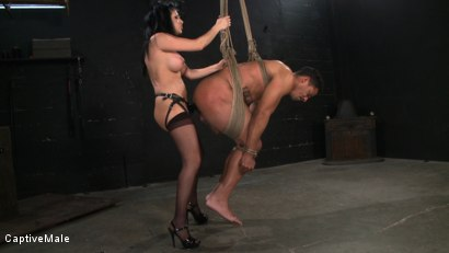 Photo number 15 from Sativa's Slave shot for Captive Male on Kink.com. Featuring Lobo and Sativa Rose in hardcore BDSM & Fetish porn.