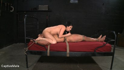 Photo number 3 from Sativa's Slave shot for Captive Male on Kink.com. Featuring Lobo and Sativa Rose in hardcore BDSM & Fetish porn.
