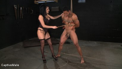 Photo number 9 from Sativa's Slave shot for Captive Male on Kink.com. Featuring Lobo and Sativa Rose in hardcore BDSM & Fetish porn.