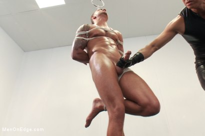 Photo number 9 from The World Premiere of KinkMan - Super Heroes Series shot for Men On Edge on Kink.com. Featuring Rob Blu in hardcore BDSM & Fetish porn.