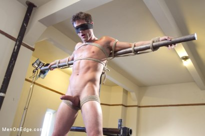 Photo number 4 from Straight Stud - Bondage, Balls Busting, Begging to Cum shot for Men On Edge on Kink.com. Featuring Lance Hart in hardcore BDSM & Fetish porn.