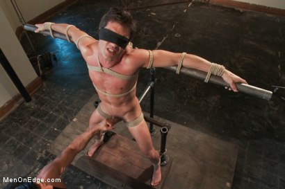Photo number 3 from Straight Stud - Bondage, Balls Busting, Begging to Cum shot for Men On Edge on Kink.com. Featuring Lance Hart in hardcore BDSM & Fetish porn.