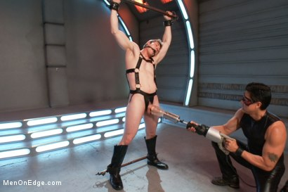 Photo number 6 from The Moral Keeper vs The Evil Edgemaster - Super Heroes Series shot for Men On Edge on Kink.com. Featuring Will Parks in hardcore BDSM & Fetish porn.