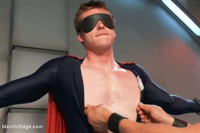 Photo number 4 from The Moral Keeper vs The Evil Edgemaster - Super Heroes Series shot for Men On Edge on Kink.com. Featuring Will Parks in hardcore BDSM & Fetish porn.
