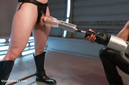 Photo number 9 from The Moral Keeper vs The Evil Edgemaster - Super Heroes Series shot for Men On Edge on Kink.com. Featuring Will Parks in hardcore BDSM & Fetish porn.