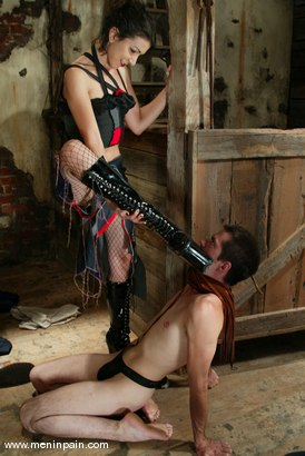 Photo number 3 from Kitty and Ken Sleazy shot for Men In Pain on Kink.com. Featuring Kitty and Ken Sleazy in hardcore BDSM & Fetish porn.