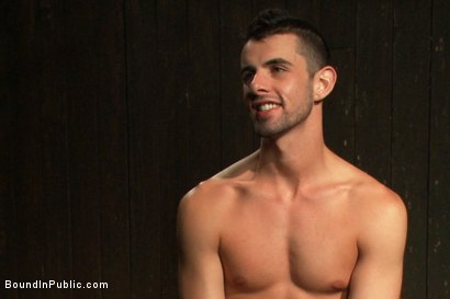 Photo number 15 from Captured stud is being used in a bar full of horny masked men shot for Bound in Public on Kink.com. Featuring Spencer Reed, Jake Steel and Cole Streets in hardcore BDSM & Fetish porn.