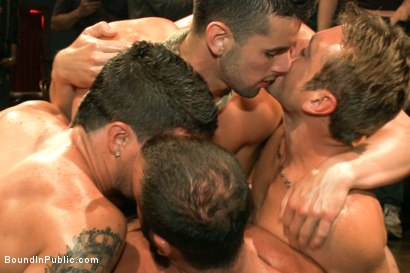 Photo number 9 from Jake Steel - beaten and thrown in an oily orgy. shot for Bound in Public on Kink.com. Featuring Spencer Reed, Jake Steel and Cole Streets in hardcore BDSM & Fetish porn.