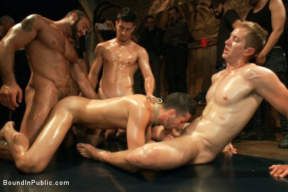 Photo number 8 from Jake Steel - beaten and thrown in an oily orgy. shot for Bound in Public on Kink.com. Featuring Spencer Reed, Jake Steel and Cole Streets in hardcore BDSM & Fetish porn.