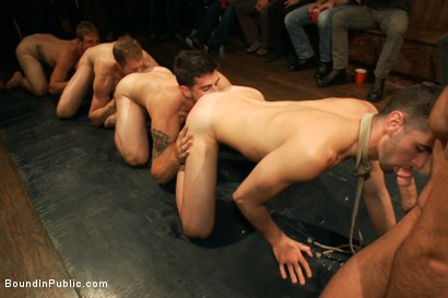 Photo number 13 from Jake Steel - beaten and thrown in an oily orgy. shot for Bound in Public on Kink.com. Featuring Spencer Reed, Jake Steel and Cole Streets in hardcore BDSM & Fetish porn.