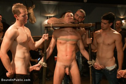 Photo number 2 from Jake Steel - beaten and thrown in an oily orgy. shot for Bound in Public on Kink.com. Featuring Spencer Reed, Jake Steel and Cole Streets in hardcore BDSM & Fetish porn.