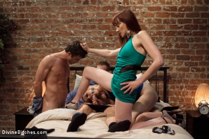 Photo number 12 from Please Fuck My Wife While My Prostate Is Milked! shot for Divine Bitches on Kink.com. Featuring Maitresse Madeline Marlowe , Dylan Ryan, Lance Hart and Christian Wilde in hardcore BDSM & Fetish porn.
