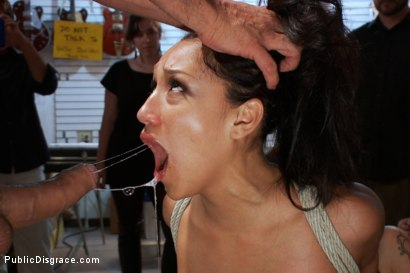 Photo number 10 from PERFECT TOY! Ass Fucking, Anal Fisting, Bondage, Squirting in Public!! shot for Public Disgrace on Kink.com. Featuring Ramon Nomar and Vicki Chase in hardcore BDSM & Fetish porn.
