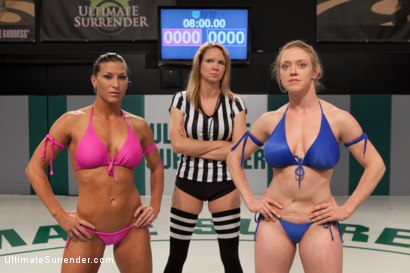 Photo number 1 from SUMMER VENGEANCE TOURNAMENT: The Heat is ON!!! shot for Ultimate Surrender on Kink.com. Featuring Ariel X and Dee Williams in hardcore BDSM & Fetish porn.