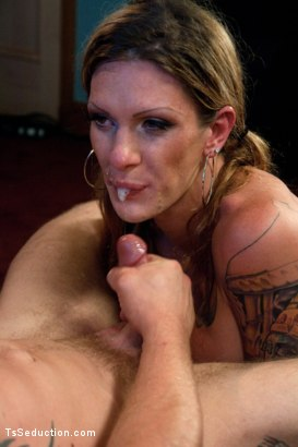 Photo number 11 from Morgan CAM: Watch her Pee, Smoke & Seduce a Hunk of Man Meat  shot for TS Seduction on Kink.com. Featuring Morgan Bailey and Trent Diesel in hardcore BDSM & Fetish porn.