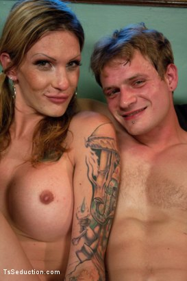 Photo number 15 from Morgan CAM: Watch her Pee, Smoke & Seduce a Hunk of Man Meat  shot for TS Seduction on Kink.com. Featuring Morgan Bailey and Trent Diesel in hardcore BDSM & Fetish porn.