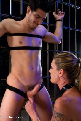 Photo number 2 from It's Raining Cum: Morgan Bailey Dominates Her Little Man shot for TS Seduction on Kink.com. Featuring Morgan Bailey and Tyler Alexander in hardcore BDSM & Fetish porn.