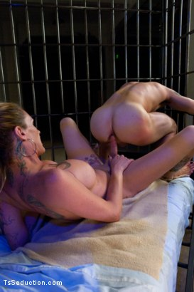 Photo number 9 from It's Raining Cum: Morgan Bailey Dominates Her Little Man shot for TS Seduction on Kink.com. Featuring Morgan Bailey and Tyler Alexander in hardcore BDSM & Fetish porn.