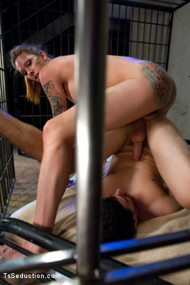 Photo number 12 from It's Raining Cum: Morgan Bailey Dominates Her Little Man shot for TS Seduction on Kink.com. Featuring Morgan Bailey and Tyler Alexander in hardcore BDSM & Fetish porn.