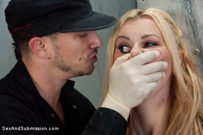 Photo number 4 from The Model: Jessie Rogers gets taken by her biggest fan! shot for Sex And Submission on Kink.com. Featuring Jessie Rogers and Mr. Pete in hardcore BDSM & Fetish porn.